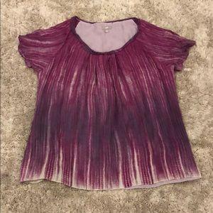 J. Jill 100% Silk Raglan Sleeve Blouse